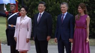 Macri recibe al presidente de China, Xi Jinping, en visita de Estado