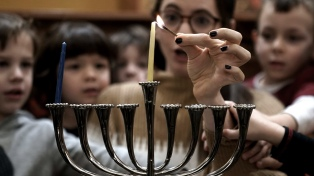 La comunidad judía celebra Janucá, la fiesta de las luminarias