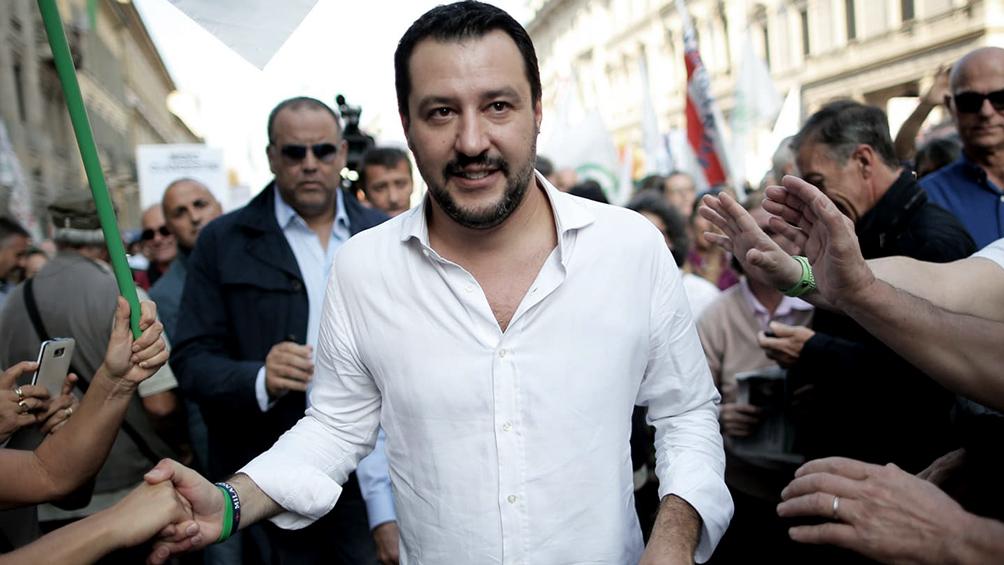 Salvini convocó a hacer ayuno por un posible juicio contra su política antimigratoria