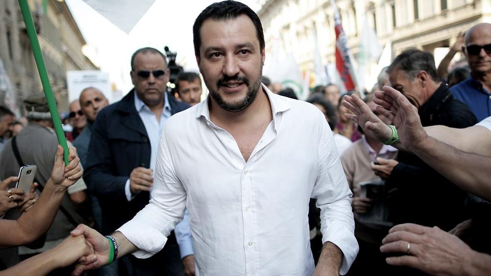El vicepremier italiano y líder de la Liga, Matteo Salvini.