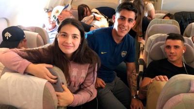 El viaje de Boca y sus familias rumbo a España en imágenes