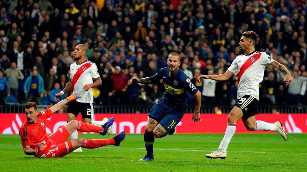 Benedetto hizo el gol de Boca en la final de la Libertadores 2018