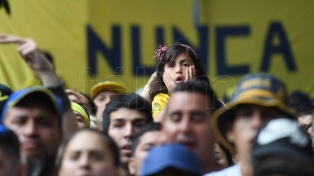El uruguayo Nahitan Nández, el más destacado de un apático Boca Juniors