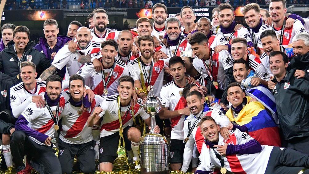 Los festejos en Madrid del actual campeón de la Libertadores