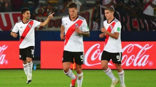 River, con un partidazo de Martínez que se va, goleó al Kashima y se sube al podio