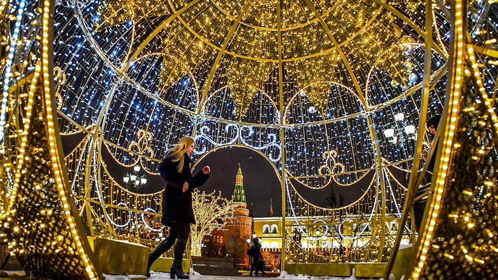 Rusia. El espíritu navideño también llegó al Kremlin.