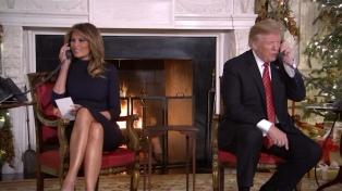 """Trump a un niño de 7 años: """"¿Todavía sigues creyendo en Santa?"""""""