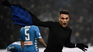 Lautaro Martínez, sobre la hora, le dio la victoria a Inter sobre el Napoli
