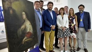 Bullrich restituyó a sus dueños una obra de Murillo robada hace 35 años