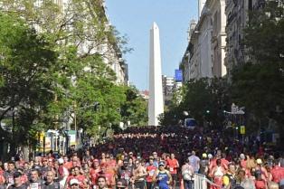 Once mil corredores participaron de la San Silvestre en el centro porteño