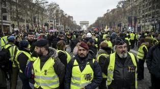 """Decrece la participación en la décimotercera protesta de """"chalecos amarillos"""""""