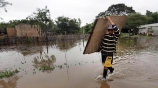 Hay 2.476 evacuados en Chaco por las lluvias