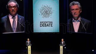 Imagen de archivo del último debate presidencial