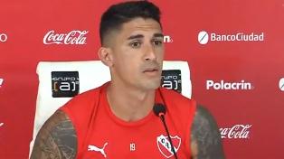 """Hernández: """"Trabajo para encontrar mi mejor versión en Independiente"""""""