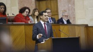 El conservador Moreno se convirtió en presidente de Andalucía con los votos de la ultraderecha