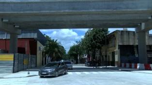 La calle Aguirre se abrió al tránsito como parte de las obras del Viaducto San Martín