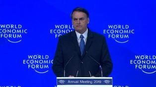 Davos: Bolsonaro llamó a compatibilizar el ambiente con el desarrollo económico