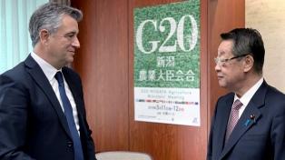 Etchevehere se reunió con el ministro de Agricultura nipón por el intercambio comercial