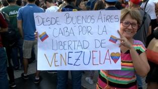 Venezolanos opositores al gobierno de Maduro se movilizaron en Buenos Aires