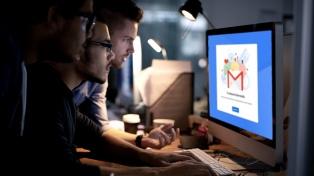 Una caída de gmail afecta a usuarios en Argentina, EEUU y otros países de Europa y Asia