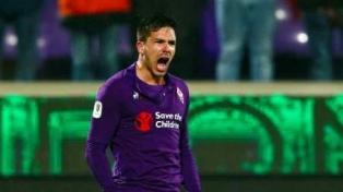 Simeone marcó dos tantos en la goleada de la Fiorentina ante Roma