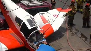 Se estrelló una avioneta en las calles de Lima