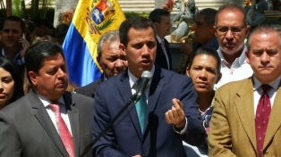 Guaidó aseguró que el 23 de febrero empezará a entrar la ayuda humanitaria