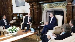 El Presidente recibió a directivos del grupo petrolero Royal Dutch Shell