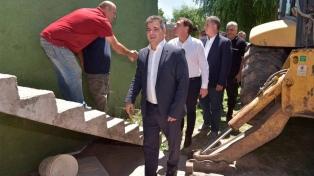 Ritondo supervisó la demolición del búnker de drogas número 90 de su gestión