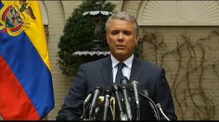 """Duque dice que la disidencia de las FARC es """"narcoterrorismo"""" apoyado por Maduro"""