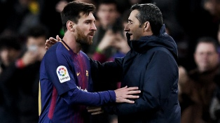 """Valverde: """"Messi está muy bien físicamente"""""""