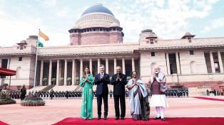 Macri se reunió con su par de la India, que lo agasajó con una cena