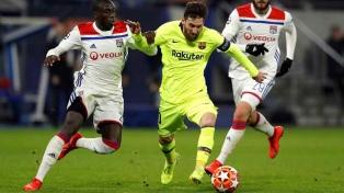 Barcelona y Lyon empataron en un duro encuentro
