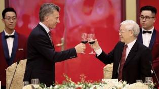 La participación de Vietnam en el comercio exterior de la Argentina se ubica en máximos históricos