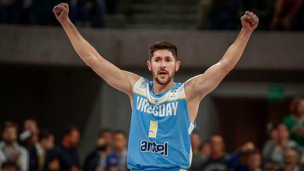 """""""Panchi"""" Barrera, uno de los pilares de Uruguay que busca el pasaje al Mundial, tras 33 años (foto: FIBA.com)"""