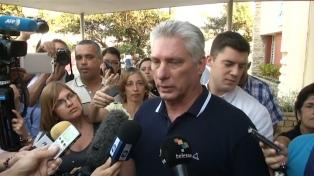 Díaz Canel votó para refrendar la nueva constitución cubana