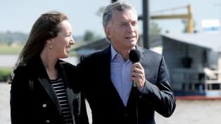 Macri inaugura junto a Vidal un tramo de la ruta nacional 7 en San Andrés de Giles