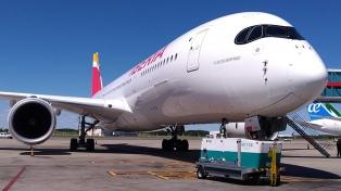 Iberia presentó en Ezeiza su Airbus A350, el avión más avanzado del mundo en materia tecnológica