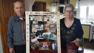Un matrimonio invitó a toda la ciudad de Ushuaia a festejar su 60 aniversario