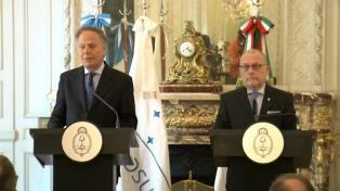 Faurie y el canciller italiano acordaron trabajar en la integración económica
