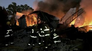 Incendio en un depósito de cargas generales