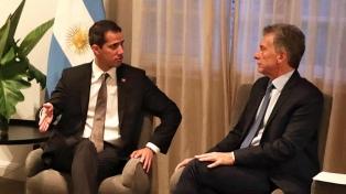 Guaidó agradeció a Macri por su respaldo en la embajada argentina en Caracas