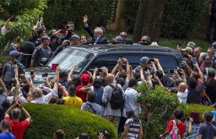 Lula salió de prisión por unas horas para el sepelio de su nieto