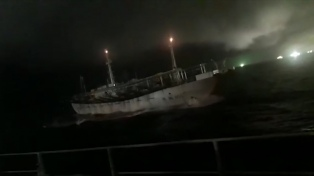 Prefectura persiguió a un buque chino que pescaba en zona argentina