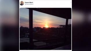 Los últimos 5 tuits de Franco Macri: amanecer en Barrio Parque