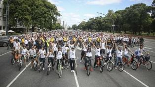 Más de 5 mil personas participaron de una bicicleteada en Palermo por el Día de la Mujer