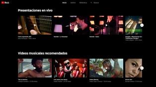 YouTube lanzó en la Argentina su servicio de streaming de música