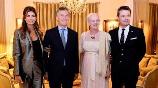 Macri asistió a la recepción que le ofreció la reina Margarita II de Dinamarca