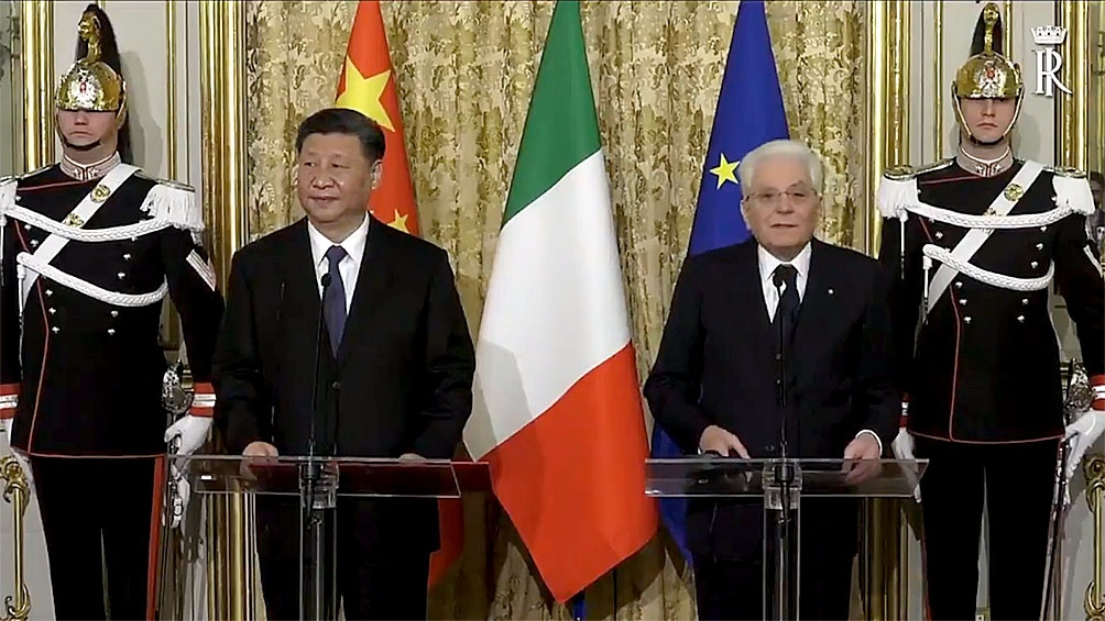 Xi Jinping llega a Sicilia para terminar su visita oficial a Italia