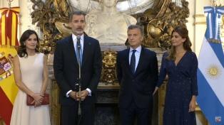 """""""La Argentina es de enorme importancia para España"""", dijo el rey Felipe VI"""
